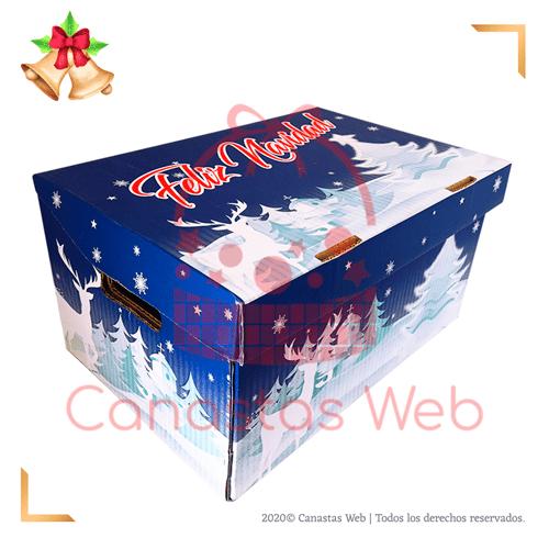 Caja cartón azul